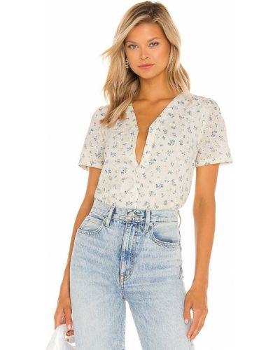 Текстильная блузка кремовая с вышивкой 1. State