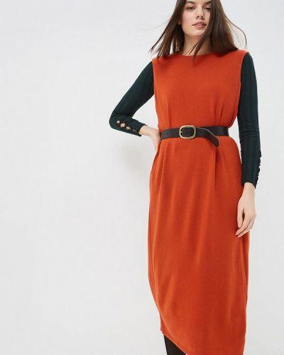 Платье свободного кроя - оранжевое Free Age