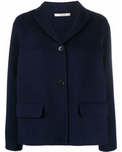 Синий удлиненный пиджак оверсайз с карманами Odeeh