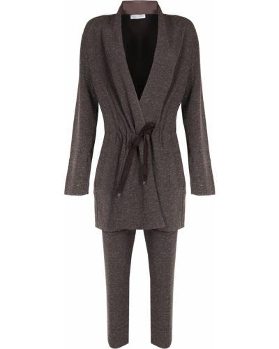 Коричневый длинный костюмный костюм средний Le Tricot Perugia