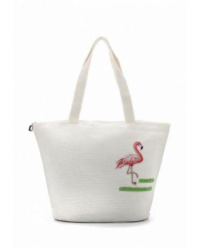 Белая пляжная сумка Fabretti