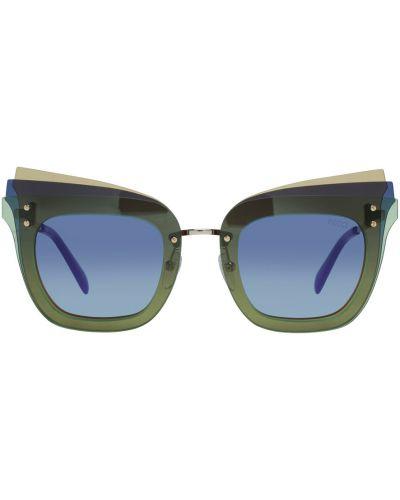 Zielone okulary Emilio Pucci
