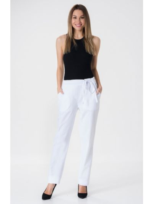 Białe spodnie materiałowe Mir