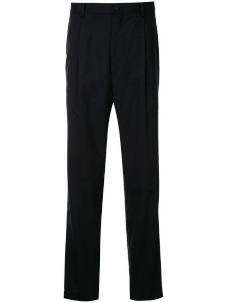 Прямые деловые брюки с поясом на пуговицах Kent & Curwen