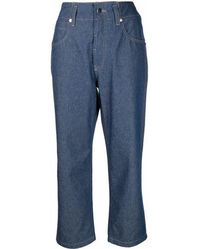 Синие с завышенной талией укороченные джинсы с карманами Sofie D'hoore