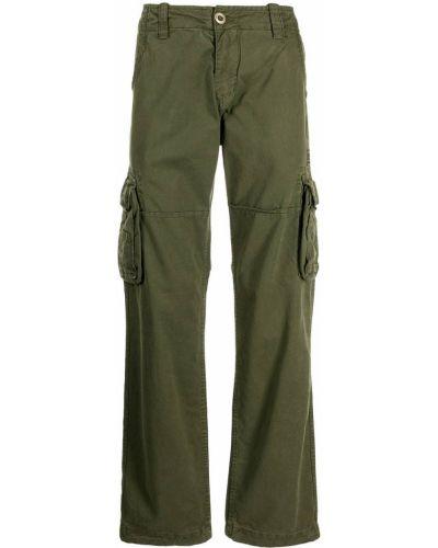 Зеленые прямые брюки Alpha Industries