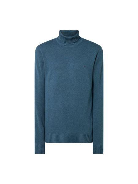 Sweter wełniany - turkusowy Christian Berg Men