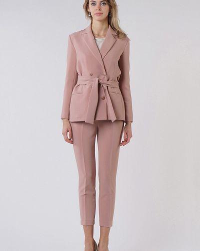 Облегающий розовый брючный костюм Oks By Oksana Demchenko