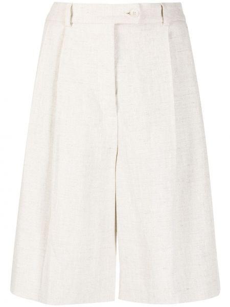 Теплые льняные белые короткие шорты Mrz