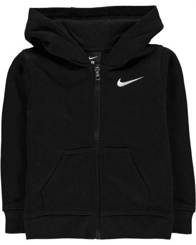 Czarna bluza z kapturem bawełniana Nike