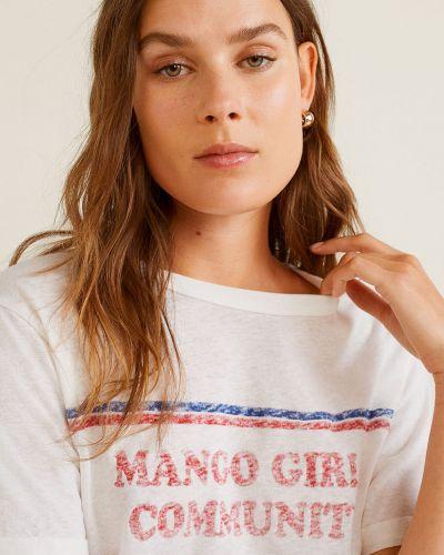 Koszula biała skromny Mango