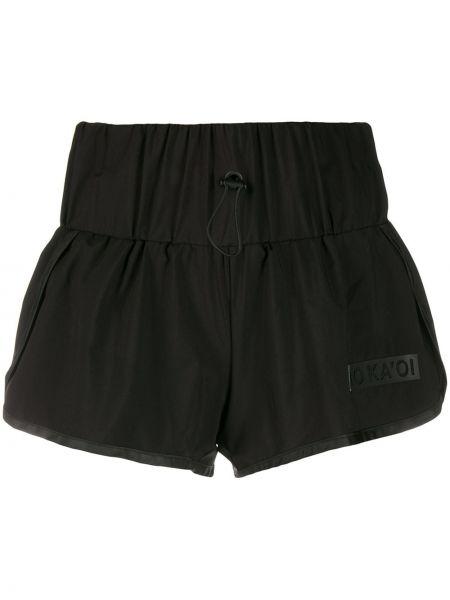 Черные шорты на шнурках No Ka 'oi