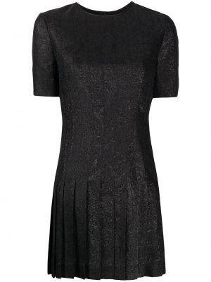 Платье с вышивкой плиссированное Saint Laurent