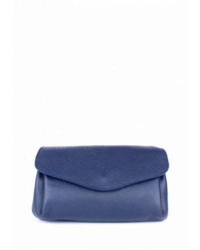 Кожаная сумка через плечо - синяя Bella Bertucci