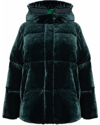 Куртка с капюшоном бархатная свободная Moncler