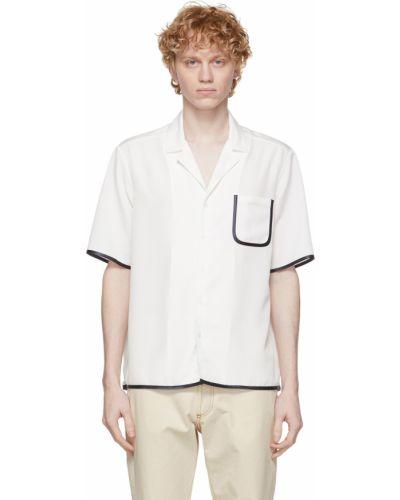 Biała koszula bawełniana krótki rękaw Daniel W. Fletcher