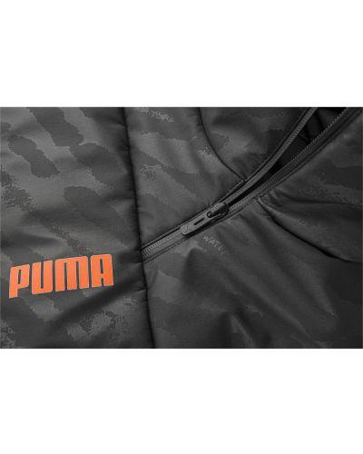 Черная куртка с капюшоном с воротником Puma