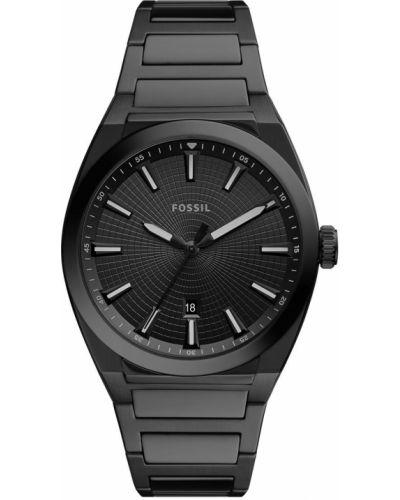 Czarny zegarek kwarcowy Fossil