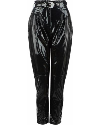 Лаковые черные брюки Pinko