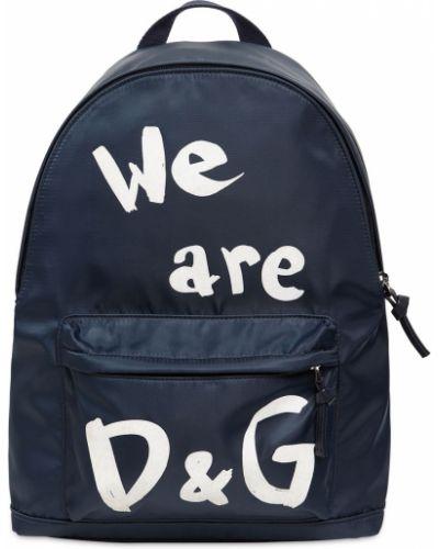 Niebieski plecak z nylonu Dolce And Gabbana