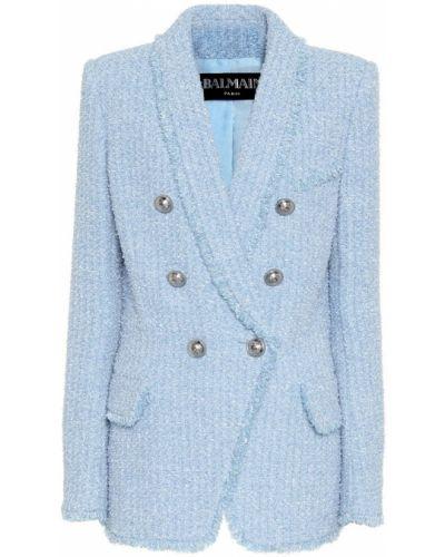 Пиджак твидовый шерстяной Balmain