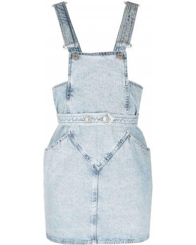 Синий хлопковый джинсовый сарафан на пуговицах Isabel Marant