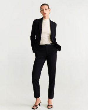 Пиджак черный из вискозы Mango