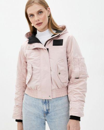 Теплая розовая утепленная куртка Befree