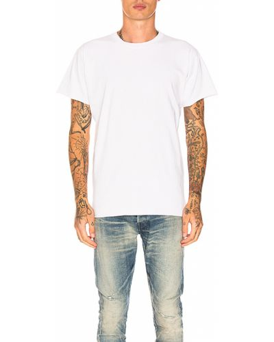Baza biały bawełna bawełna t-shirt John Elliott