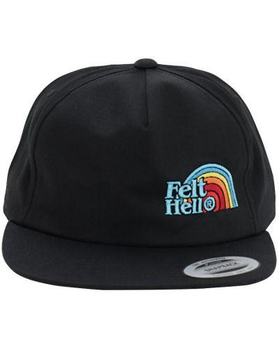Czarna czapka z haftem Felt - For Every Living Thing