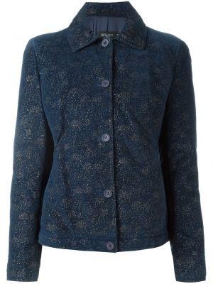 Прямая синяя куртка на пуговицах Romeo Gigli Pre-owned