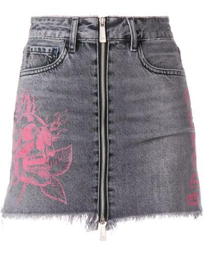 Юбка мини джинсовая классическая Marcelo Burlon. County Of Milan