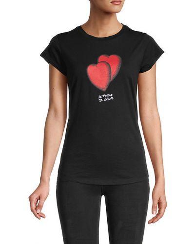 Хлопковая черная футболка с короткими рукавами Zadig & Voltaire