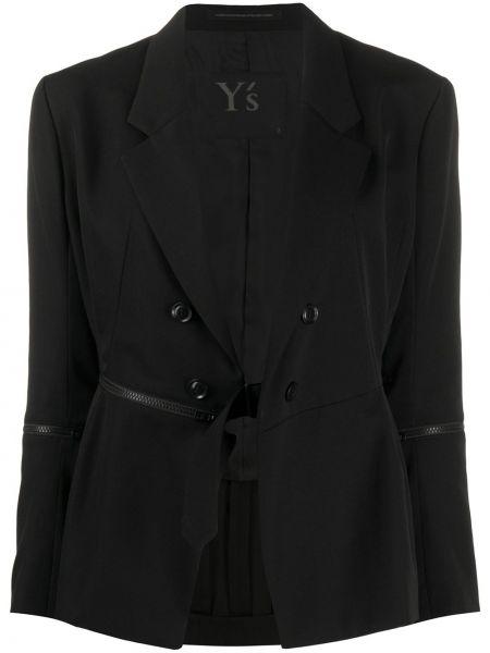 Блейзер длинный - черный Yohji Yamamoto
