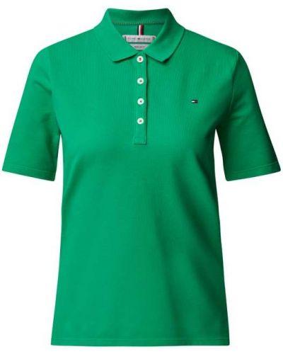 T-shirt bawełniana - zielona Tommy Hilfiger