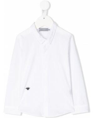 Klasyczna koszula bawełniana z haftem z długimi rękawami Baby Dior