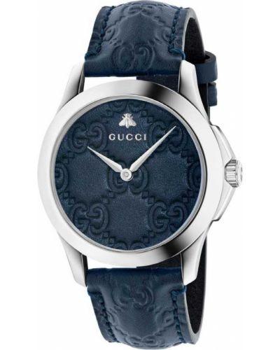 Городские с ремешком кожаные часы на кожаном ремешке Gucci