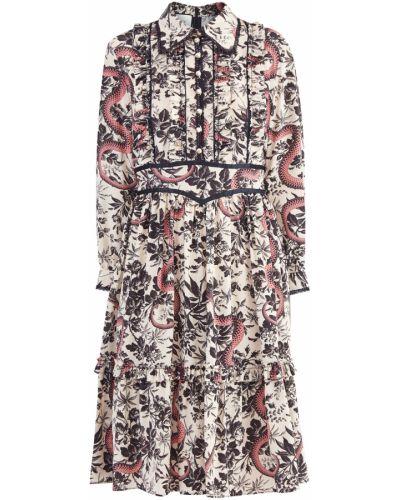 Платье миди на пуговицах с поясом Gucci