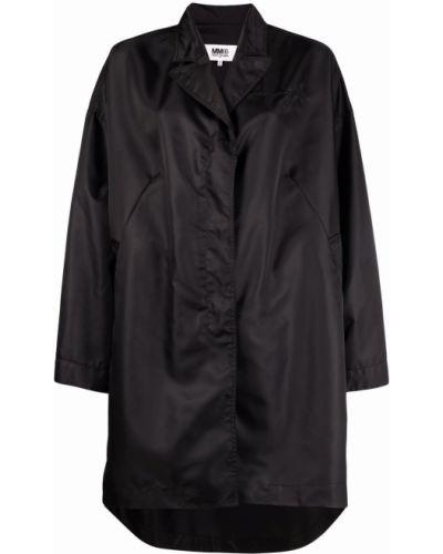 Черный дождевик из плащевки с длинными рукавами Mm6 Maison Margiela