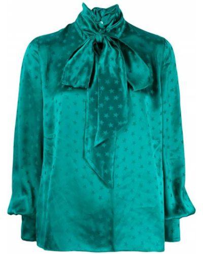 Блузка с длинным рукавом зеленый прямая Attico