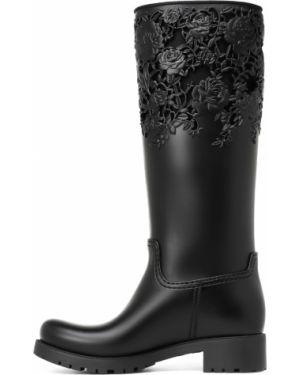 Ботинки на каблуке черные на каблуке Melissa
