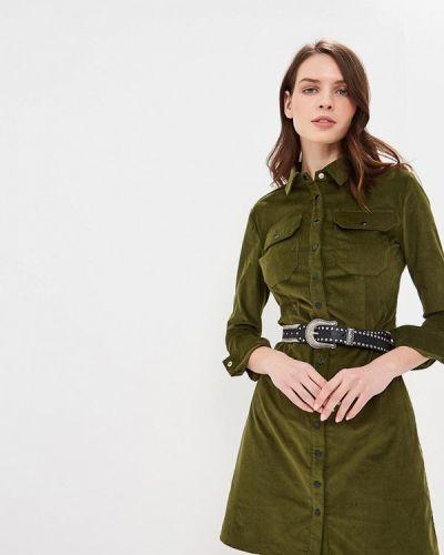 Платье осеннее зеленый Verna Sebe