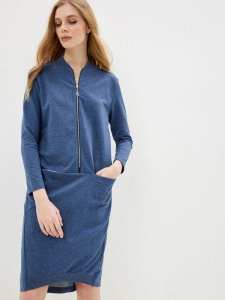 Платье прямое синее Lina