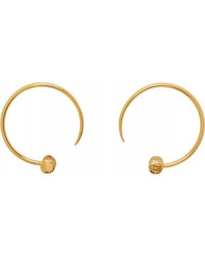 Открытые серьги-гвоздики золотые Dear Letterman
