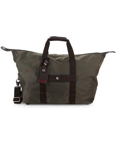 Коричневый кожаный ранец с карманами Tumi