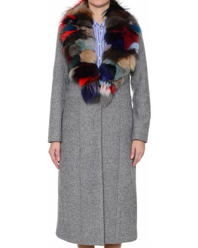 Шерстяное пальто с капюшоном Silvian Heach