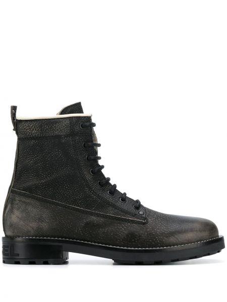 Кожаные ботинки со шнуровкой милитари Diesel
