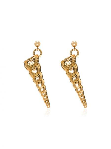 Золотые серьги Tohum