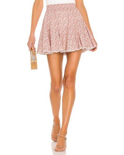 Różowa spódnica mini koronkowa sznurowana Show Me Your Mumu