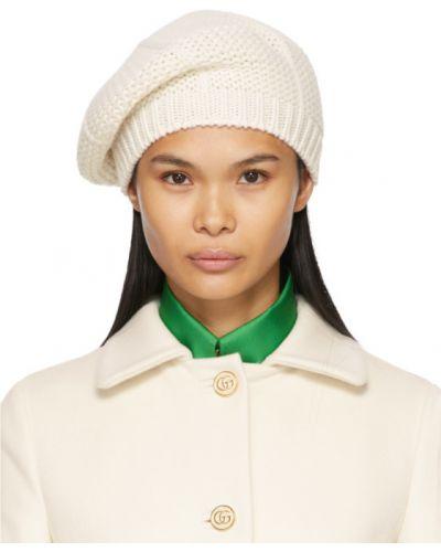 Beżowy beret wełniany Gucci